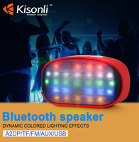 Portable Mini Colorful Flashing LED Light Wireless Bluetooth Speaker with USB Flash Drive Micro TF Card Slot FM Radio