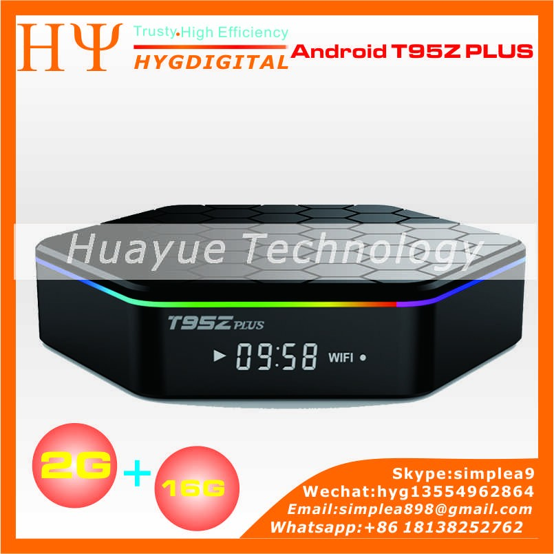 [Genuine] smart tv box T95Z plus Android6.0 Amlogic S912 4K*2K cta Core 2G + 16G Streaming Media Player tv box T95Z plus