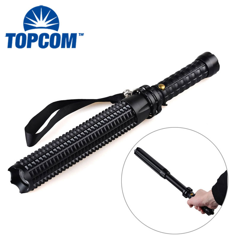 Rechargeable Led Torch Self Defense Weapons Expandable Baton Self Defense Flashlight