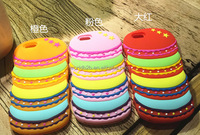 Cute cake shape colorful macarons silicone cake phone case for iphone 6s/ 6s plus from Xworld