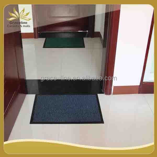 Polypropylene felt surface PVC backing doormat rug carpet