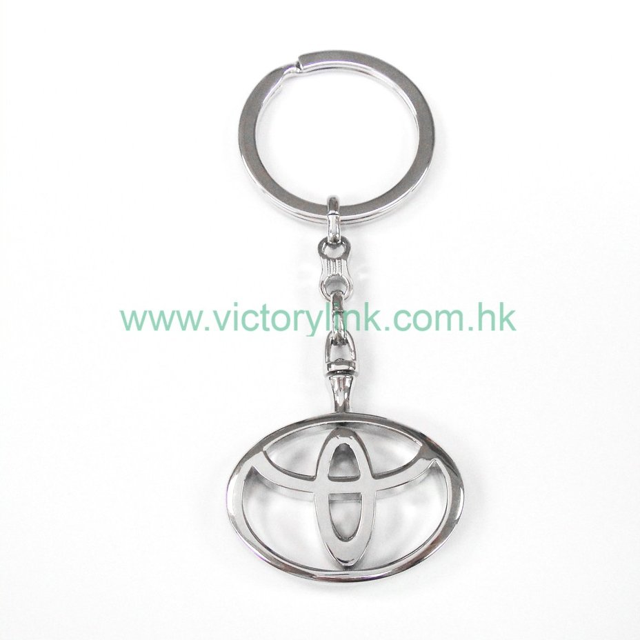 Custom logo car keyrings metal key chain ring toyota keychain