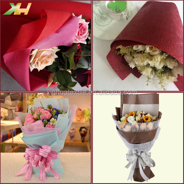 Kinds of Embossed Design PP Spunbond Polypropylene Nonwoven Non-woven Wrapper Luxury Non woven Flower Wrapping Fabric