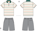 boys' golf polo shirts and shorts