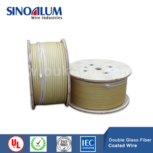 Double Glass Fiber wrapped rectangular wire,Fiber Glass coated flat wire,Glass Fiber wrapped aluminum/copper wire