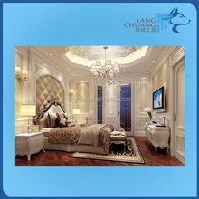 Royal Style Natural Material Interior Hand Carved 3D GRG Wall Panel Design
