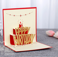 123 birthday wishes card/3d pop up greeting card