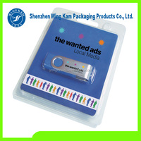 Customized Hard Plastic blister SD cards packing clamshell box&memory card blister packaging