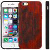 Wood Carved Pattern Cover Bamboo Hybrid Hard Case with button For iPhone 6 6S