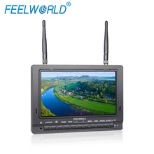 "New products FEELWORLD 7"" no blue screen monitor helicopter HD 60fps flying camera FPV rc petrol helicopter"