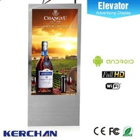 Hot sale promotional sex lcd elevator screen ward
