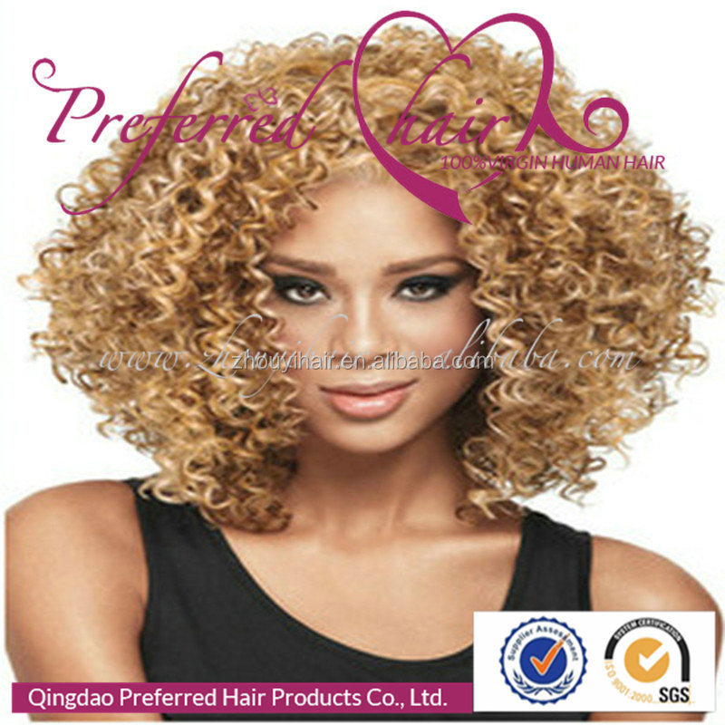 Alibaba express brazil honey blonde natural afro kinky curly hair wig