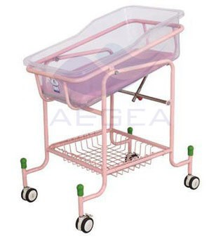 AG-CB010 Silent wheels with brakes hospital baby crib for sale