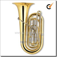 [WINZZ] Wholesale Bb Key Gold Lacquer 4 Valves Piston Tuba (TU9902)