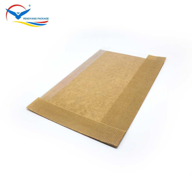 Custom logo printed paper bag, FDA eco material brown kraft paper bag printing/ plain packaging