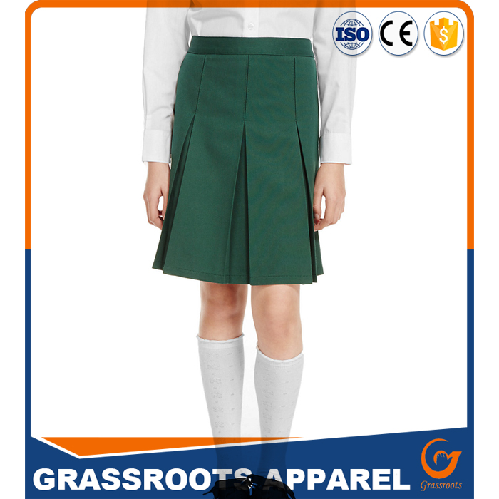 Guangzhou Children School Uniform Girls Fashion Design Pleated Skirt