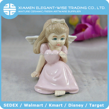 Personalized design cute angel ceramic showpieces for home decoration