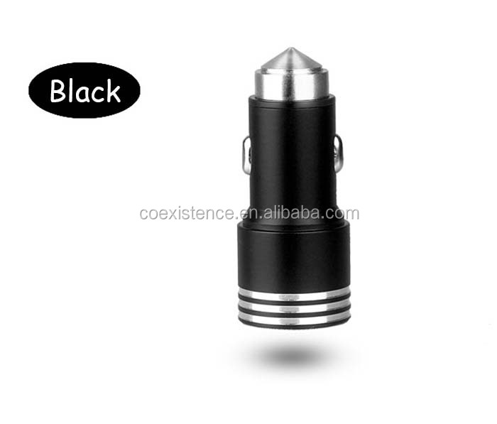 portable mini usb car phone charger fast charger usb auto mobile adapter for sale