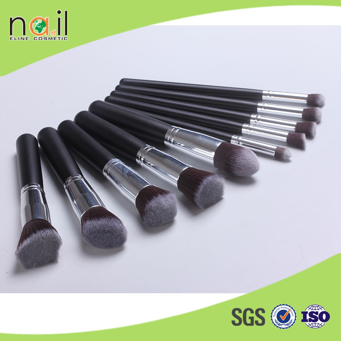 2015 Professional 10 pieces makeup brush set for beauty girl, easy-using brush for makeup
