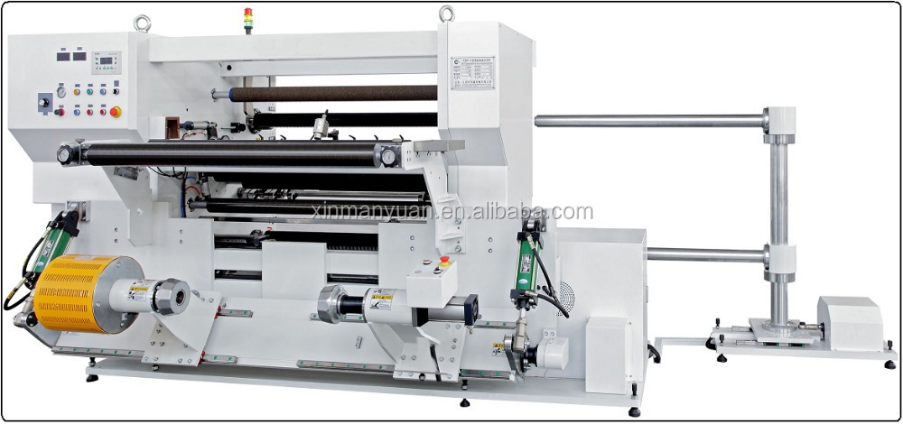 Automatic vertical-type leather, plastic, label, paper, metal, fabric, film slitting machine