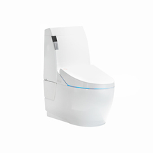 s-trap ceramic one-piece siphon jet flushing smart toilet
