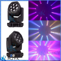 2016 New style paint zoom 7x15w RGBW 4in1 wash moving head stage light