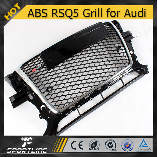 Auto ABS Black Painted Frame Front Grill for Audi RS5 Q5 RSQ5 2010 2011 2012