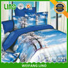 cotton twill reactive printed dog designs bed sheets,modern wholesale beds china bedroom/home textile import