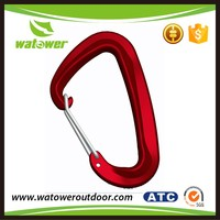 low MOQ surface treated straight type small carabiner