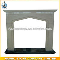 White Marble Freestanding Fireplace Mantel