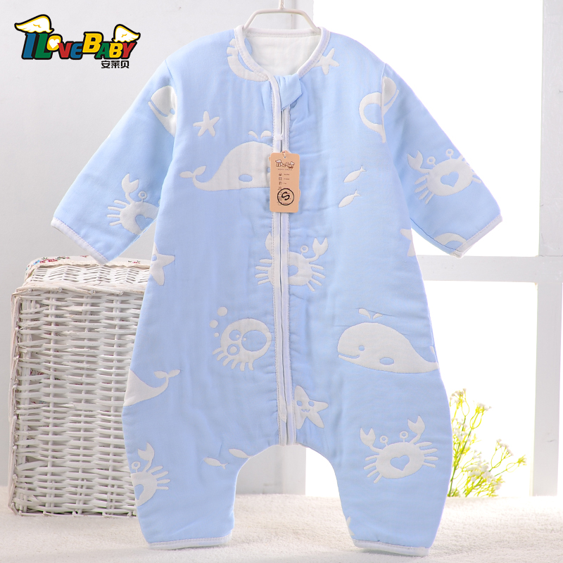 thin 100% cotton legs apart baby sleeping bag