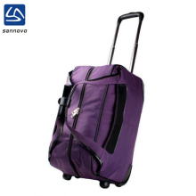 sannovo custom durable purple travel trolley bag with handle