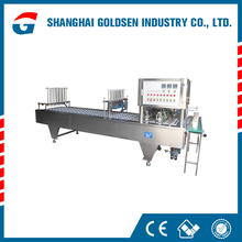 Professional milk filing and sealing machine,semi-auto cups sealing machine.blueberry jelly filling and sealing machine