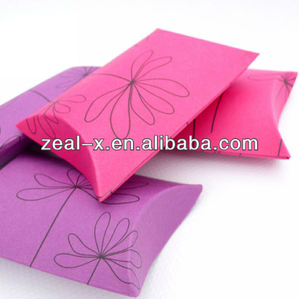Small Various Pillow Gift Jewlery Boxes Packing With Custom Logo Printing Wholesale Price
