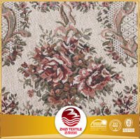 Yarn dyed woven polyester cotton upholstery jacquard furniture fabric for sofa