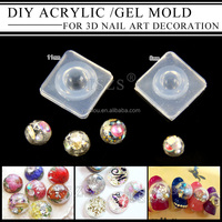 wholesale 3D UV GEL Acrylic Powder Silicone nail Mould Set Nail Design