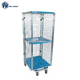 Supermarket Warehouse Nestable Storage Metal Roll Cage Container With Wheels