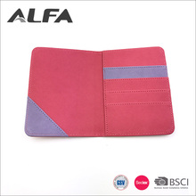 Alfa Cheap Goods Pink Waterproof Thin PU Leather Wallet Men With Elastic Strap