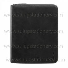 Carry business leather banker's envelope briefcase