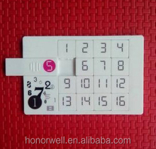 Novelty Credit Cards USB Flash Drives Puzzle Card 1gb