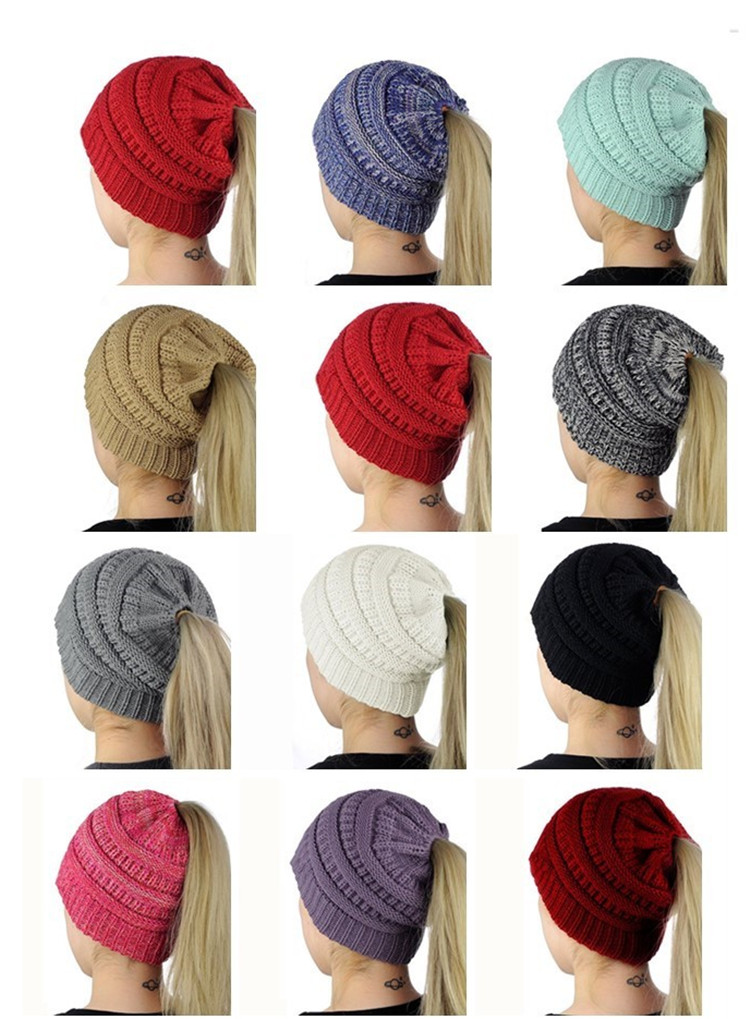 special design for long hair  lady winter cap for girl