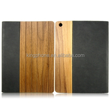 High quality custom wooden flip pu leather protective case for ipad air