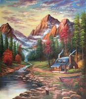 100% handmade Tomas Landscape reproduction oil painting for sale