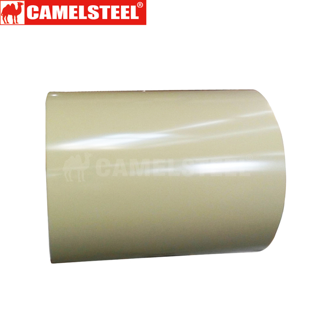 Use wood or steel pallets with PP film a kind of color coated steel coil for color gi coil /PPGI steel coil