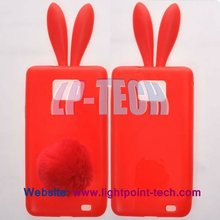 TPU Cover for samsung galaxy s2 i9100 bunny rabbit ear case