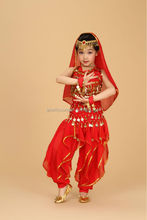 Hot selling oriental style belly dance children costume, Cheap & high quality belly dance wears for kids