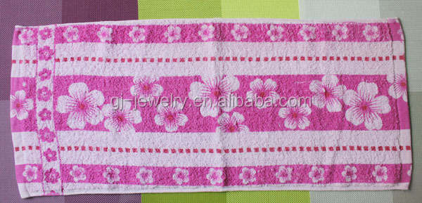 2014 Best selling product cotton flower rally towel