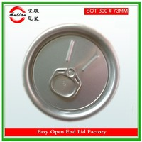 best prices Aluminium material silver color 73MM 300# fruit easy open lid
