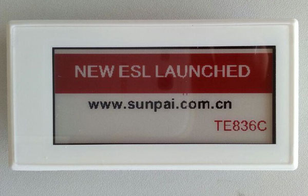 Sunpai IP54 ESL /electronic shelf label active matrix displays in three color