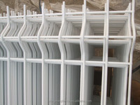 PVC or galvanized welded wire fence panels / welded wire mesh fence